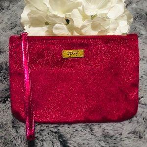 🆕Ipsy Hot Pink Shimmer Makeup Bag